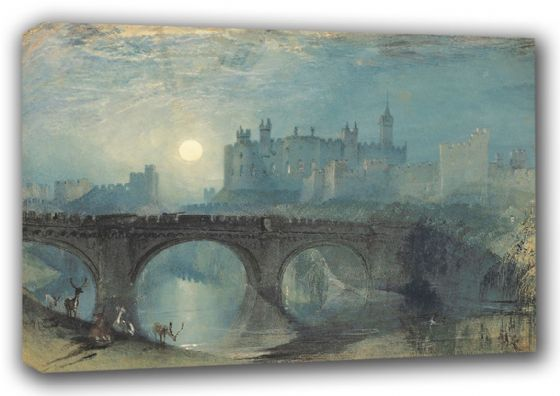 Turner, William: Alnwick Castle. Fine Art Canvas. Sizes: A3/A2/A1 (00563)